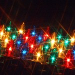 Beautiful, colorful Christmas lights