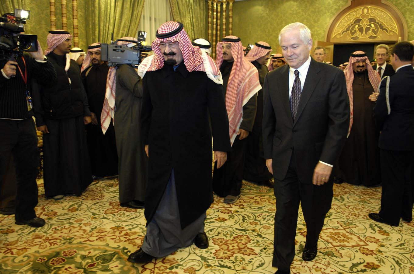 Saudi King and Robert Gates