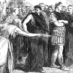 Soothsayer warns Julius Caesar.  Beware the Ides of March