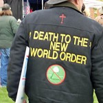 "Militia member wears""Death To The New World Order"""