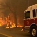 Firefighters battle wildfires on the East Coast