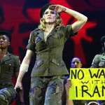 Madonna campaigns against war with Iran